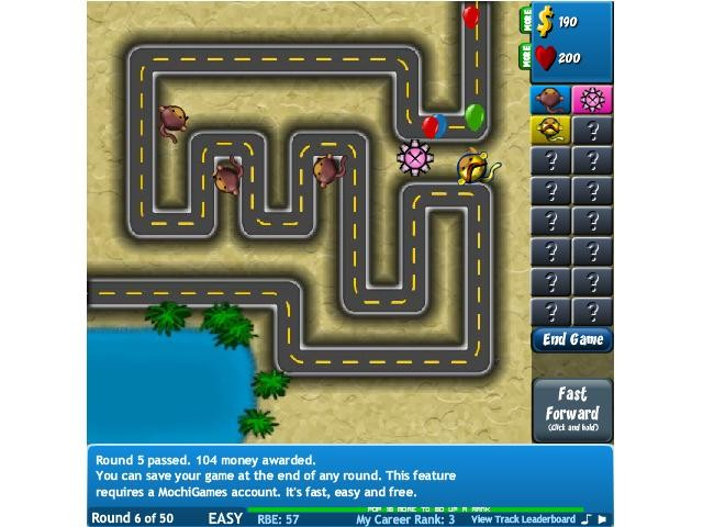 Flash Bloons Tower Defense 4 online hra zdarma Strategie