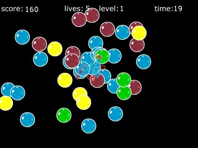 Online hra Bubblez