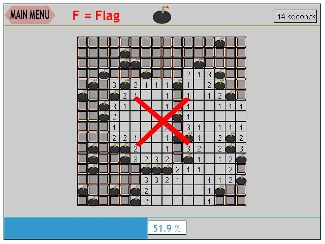 Online hra Hledání min
