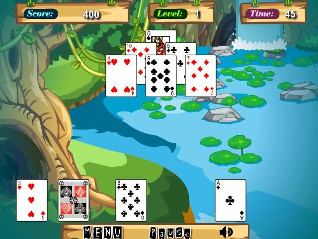 Online hra Jungle solitaire