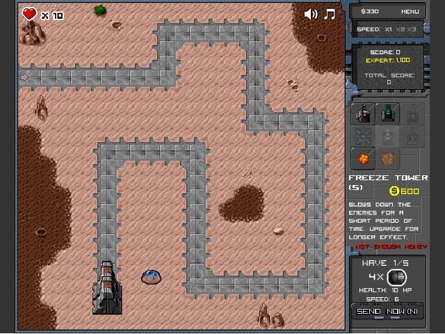 Online flash hra Mini Tower Defence zdarma