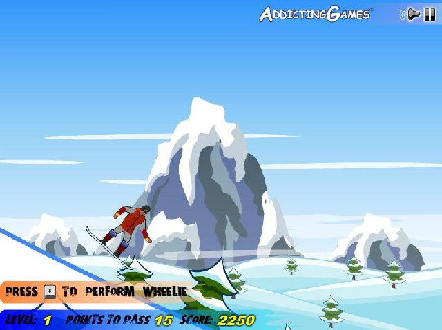 Online hra Snowboarding 2