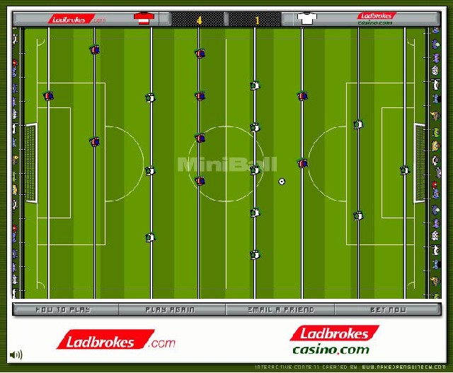 Online hra Stolní fotbal