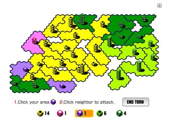 Online hra Válka kostek